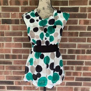 Zara polka dot sleeveless blouse